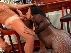 The adorable bodied submit Aliny has the really gigantic butts, but the brutal fucker Roge Ferro doesnt  afraid it, he is ready to drill any sizes! He penetrates wildly this fat slut