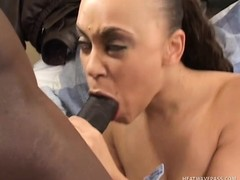 Marvelous ebony girl Mone Divine needs a black cock banging her peach