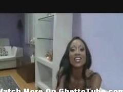 Cum Guzzling Ebony Threesome